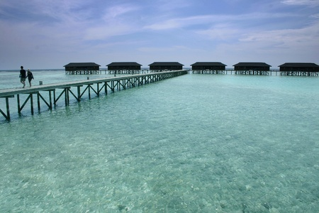 Sceneries from the maldivian islands photo