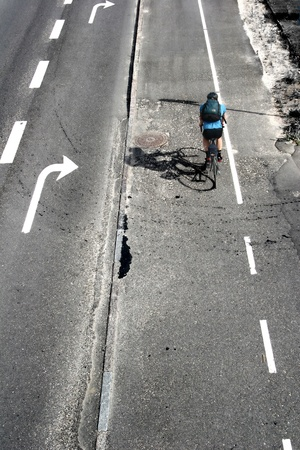 vélo dans une rue au Danemark Banque d'images
