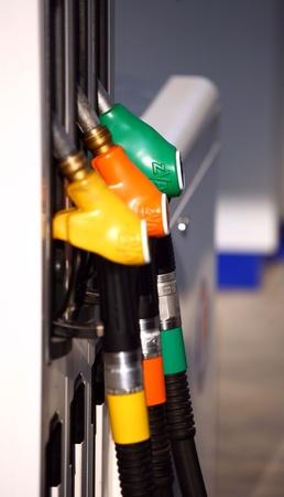 gasoline station: Stazione di benzina in Francia Archivio Fotografico