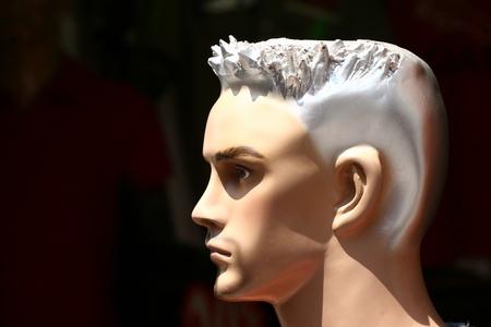manequin: model (plastic manequin)  figures of man copied and reverted