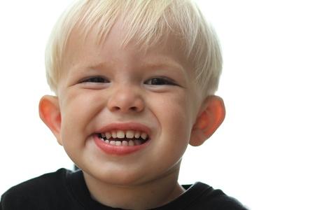 gladden:  close up of boy  head having fun