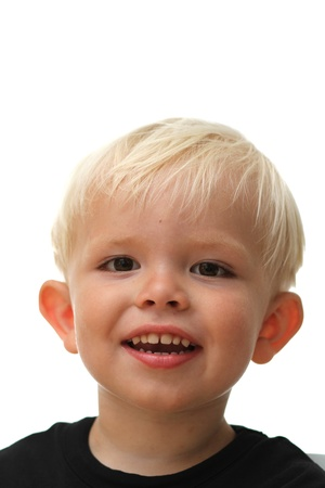 gladden:  close up of boy  head having fun