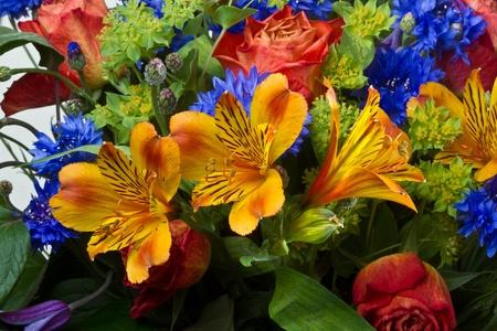 黒の背景に巨大な花の花束