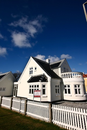 traditional house   in denmark a sunny summer day Stock Photo - 13511686