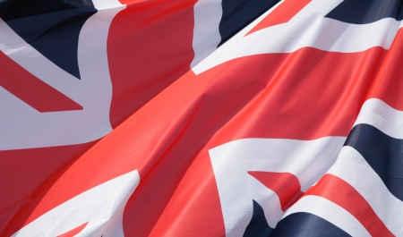 symbolization: uk flags in the wind