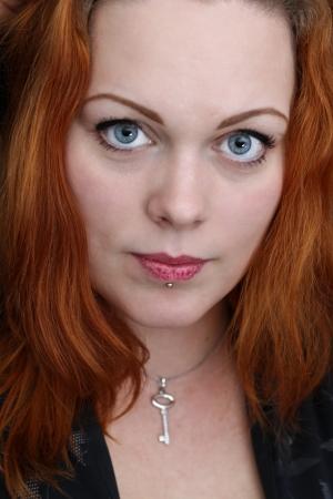 red haired girl: Carino ragazza dai capelli rossi Archivio Fotografico