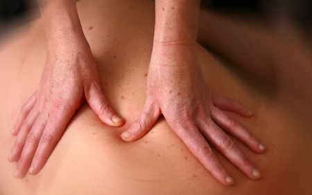 physical pressure: Massage in denmark in a chiropractise clinic  real situation