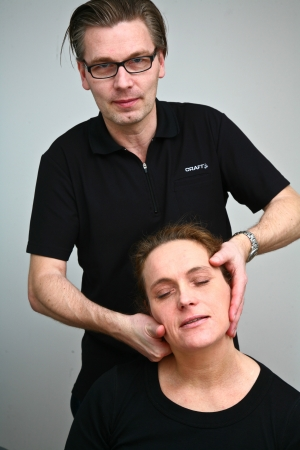 Massage in denmark in a chiropractise clinic  real situation  photo