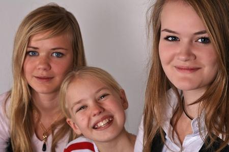 scandinavian girl: portait of a cute scandinavian girl in studio Stock Photo
