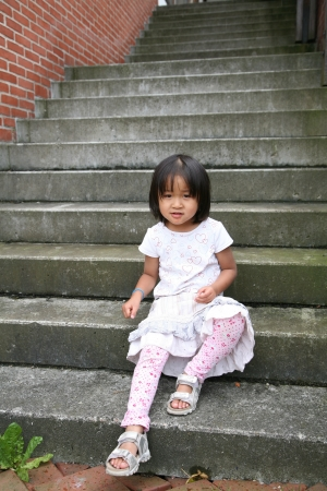 steps and staircases: girl on staircase