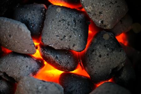 anthracite coal: Incandescent coal Stock Photo