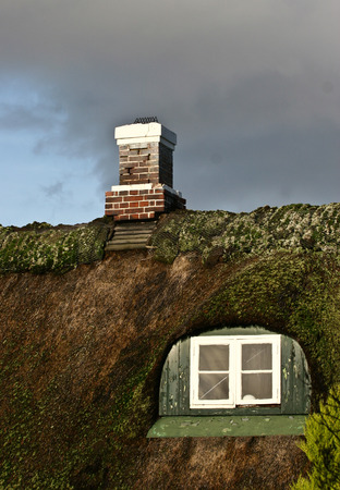 thatched house: Island of Fanoe in Denmark Stock Photo