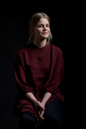 scandinavian girl: Scandinavian cute young girl portrait