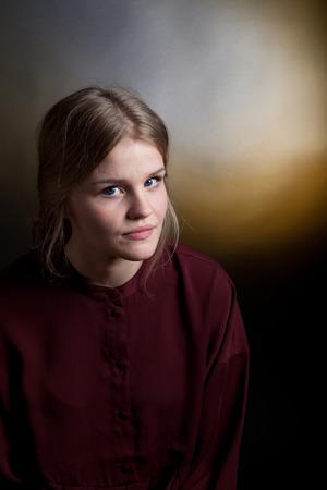 scandinavian people: Scandinavian cute young girl portrait