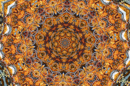 symetry: Background made with a digital kaleidoscope with many patterns Stock Photo