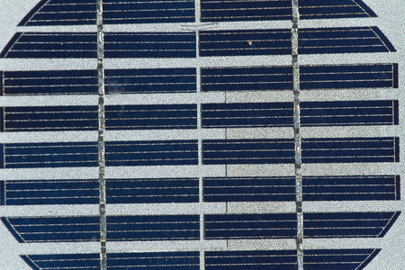 silicium: PV celles details, close up picture. Photovoltaics PV is the field of technology and research related to the application of solar cells for energy by converting sunlight directly into electricity.