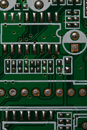 triode: Close up pictures of electronics and other devices Stock Photo