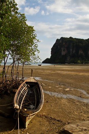 long tail: Long tail boat  in Railay Beach Thailand