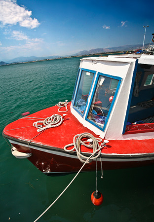 mediteranean: Fishing boats in the  Peloponese in Greece