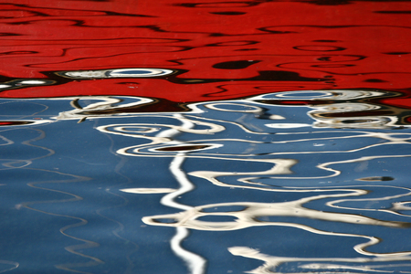 mediteranean: Scenes from  Peloponese in greece in the summer, Water reflection Stock Photo