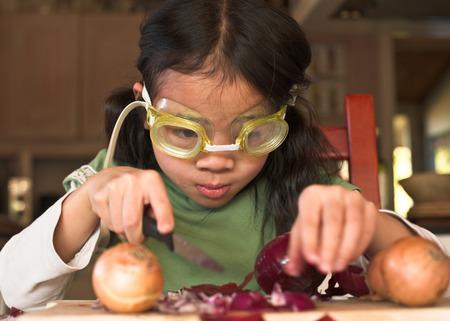 techniek: Onion peeling techniek met duik bril