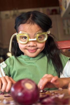 technique Onion peeling avec des lunettes de plongée photo