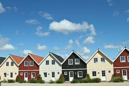 Maisons dans le village de Ho au Danemark