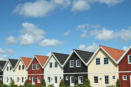 Maisons dans le village de Ho au Danemark Banque d'images