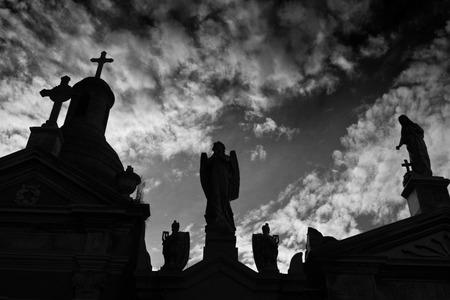 La Recoleta cimetière dans le quartier Recoleta de Buenos Aires, Argentine. Il contient les tombes de personnes notables, y compris Eva Per? N.