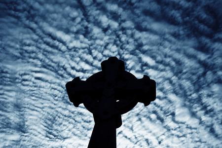Croix sur Recoleta Cimetière La dans le quartier Recoleta de Buenos Aires, Argentine.