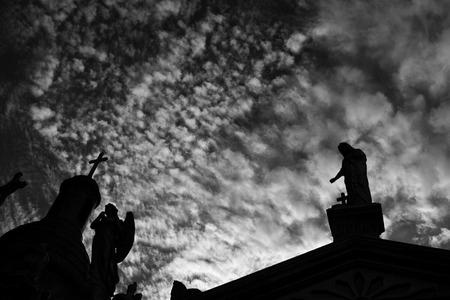 La Recoleta cimetière dans le quartier Recoleta de Buenos Aires, Argentine. Banque d'images