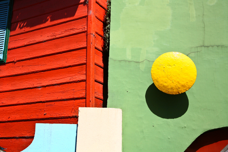 Scenes at La Boca, a neighborhood, or barrio of the Argentine capital, Buenos Aires Banque d'images