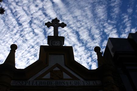 La Recoleta cimetière dans le quartier Recoleta de Buenos Aires, Argentine. Il contient les tombes de personnages notables, y compris Eva Pern.