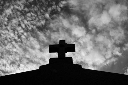 neighbourhood: Cross of La Recoleta Cemetery in the Recoleta neighbourhood of Buenos Aires, Argentina.