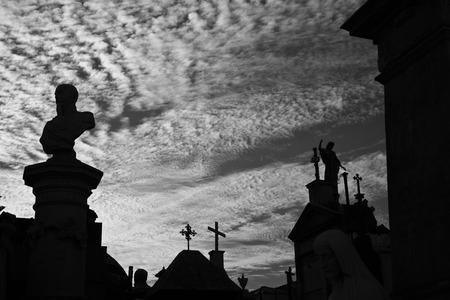 neighbourhood: La Recoleta Cemetery in the Recoleta neighbourhood of Buenos Aires, Argentina.