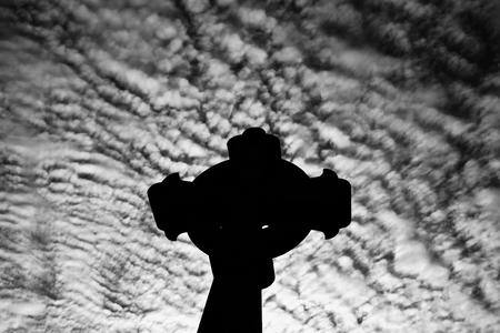Croix du cimetière de Recoleta La dans le quartier Recoleta de Buenos Aires, Argentine.