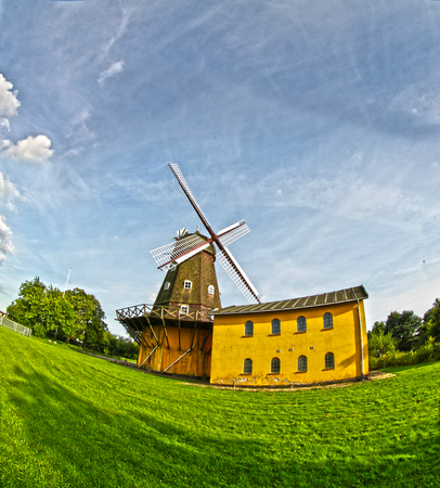 Views from Horsholm, denmark: the old wind mill Stok Fotoğraf