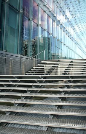 Brussels, Belgium: modern buildings, shapes lines stairway