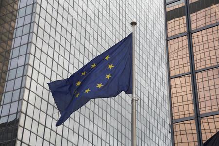 modern buildings, in brussels in the EU quarter Stok Fotoğraf