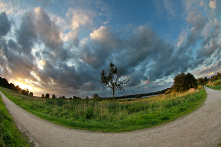Views from Horsholm, denmark, path in the nature