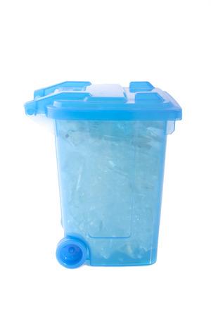 detritus: Glass box isolated on a white background Stock Photo