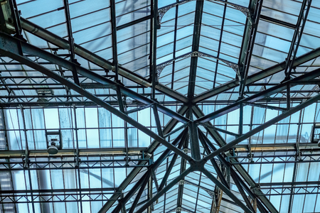 Roof at Liverpool Street Station, a mainline station in central London.
