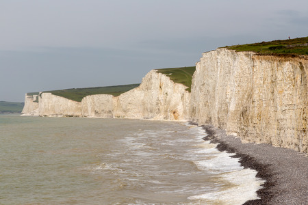 Seven Sisters cliffs at Beachy Head in Sussex.