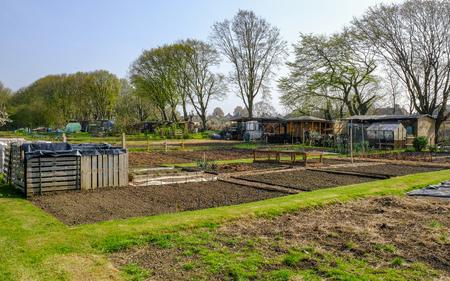 田植えの準備、春にプロットを割当。 市民農園は、土地を借りて、あなた自身の野菜を育てるためのプロットです。