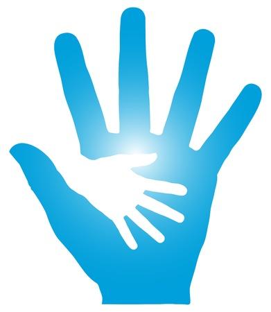 Hand in Hand Illustration