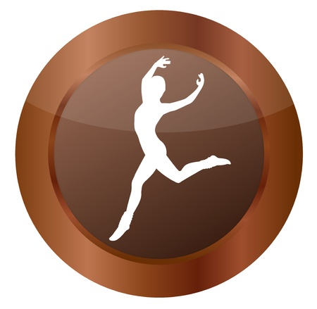 Button Ballerina brown Illustration