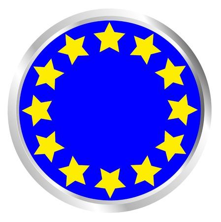 EU Citizens Button Stock Vector - 17103445
