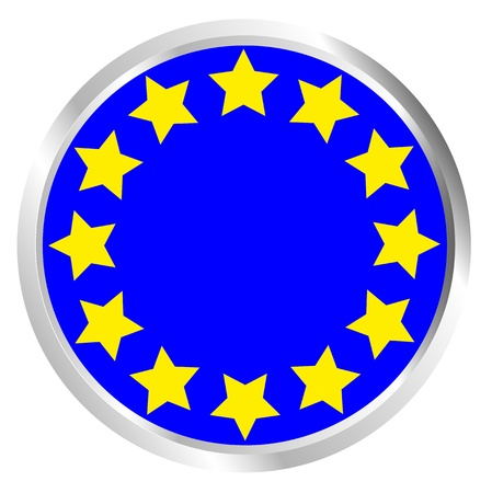 EU Citizens Button Stock Vector - 17103445