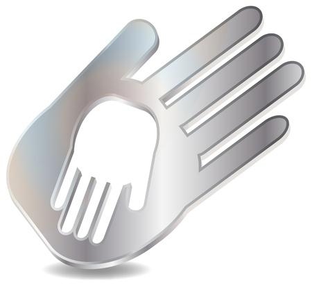 Hand in Hand Stock Vector - 17103495
