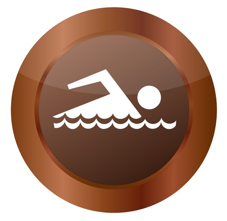 Button Swimming Vector
